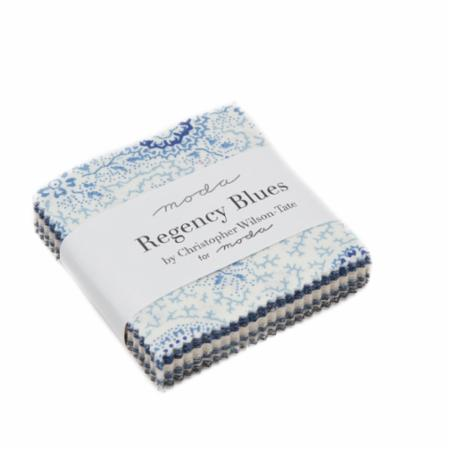 Moda MINI Charm - Regency Blues by Christopher Wilson Tate