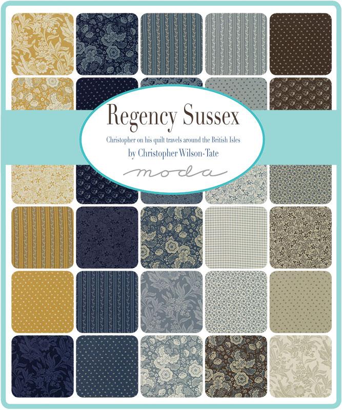 Moda Fat Eighth Bundle - Regency Sussex by Christopher Wilson Tate