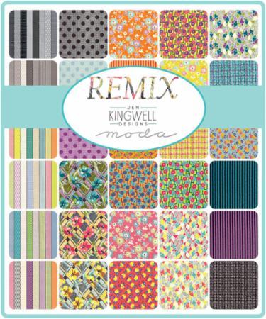Moda Fat Eighth Bundle - Remix by Jen Kingwell
