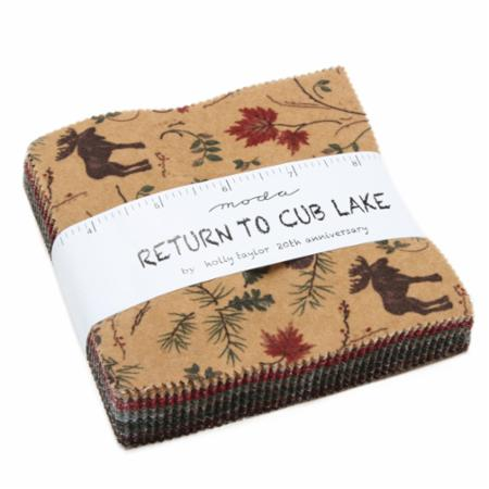 Moda Charm Pack - Return To Cub Lake Flannel by Holly Taylor