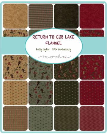 July/18 - Return To Cub Lake Flannel Charm Pack