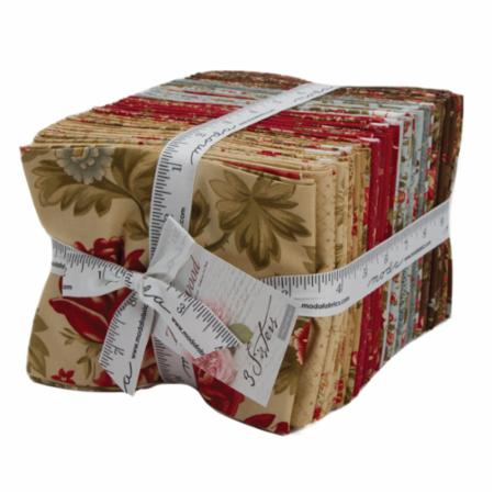 Moda Fat Quarter Bundle - Rosewood by 3 Sisters