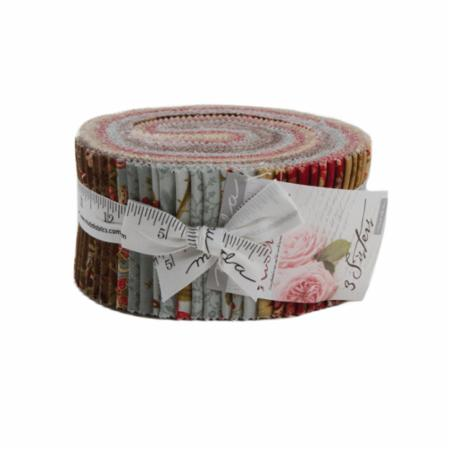 Moda Jelly Roll - Rosewood by 3 Sisters