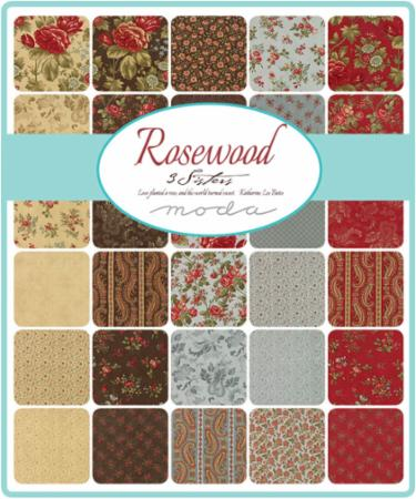 Moda Fat Eighth Bundle - Rosewood by 3 Sisters