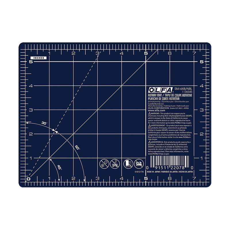 Olfa Rotary Mat Double Side 6x8 Navy