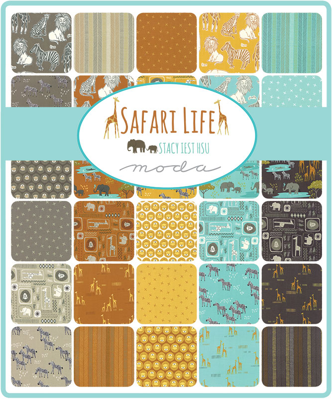 Moda Fat Eighth Bundle - Safari Life by Stacy Iest Hsu