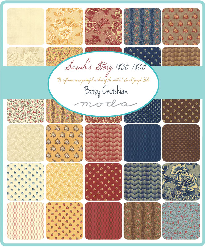 Moda Fat Quarter Bundle - Sarah's Story by Betsy Chutchian