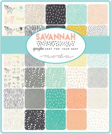 Moda Fat Quarter Bundle - Savannah by Gingiber