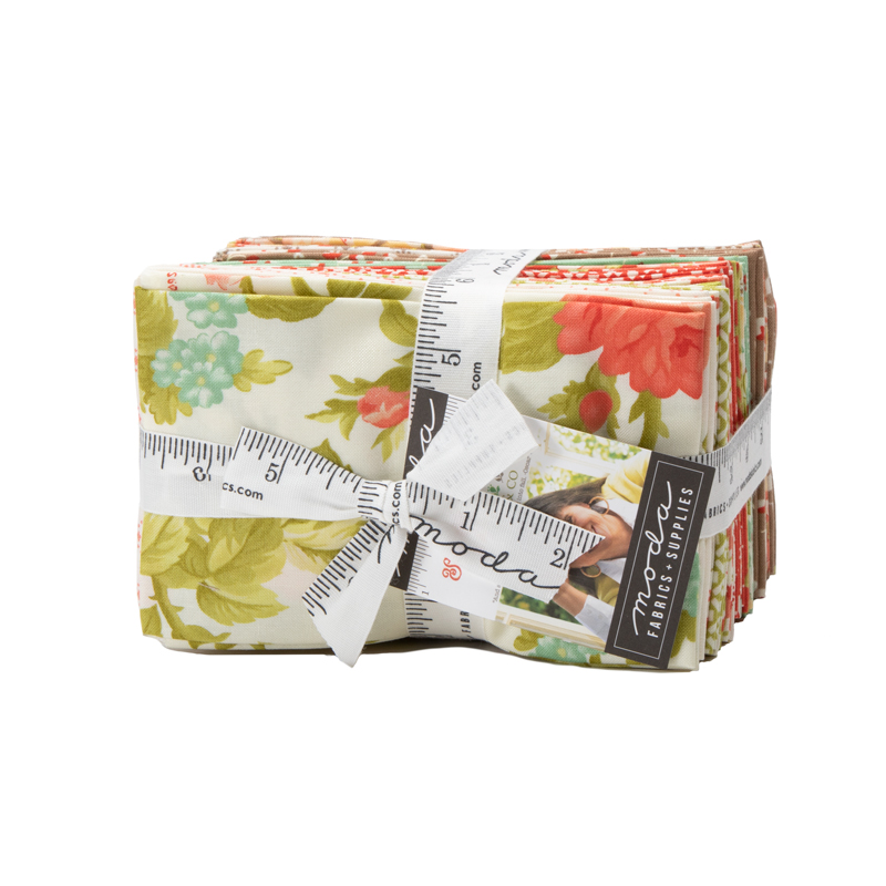 Moda Fat Eighth Bundle - Scarlet & Sage by Fig Tree Quilts
