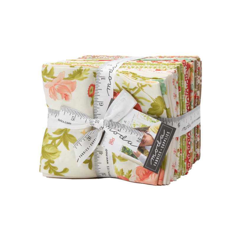 Moda Fat Quarter Bundle - Scarlet & Sage by Fig Tree Quilts