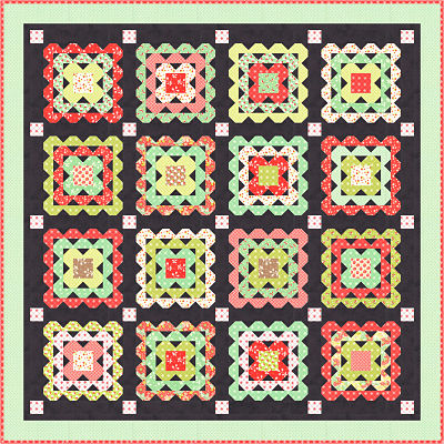 Moda Quilt Kit - Scarlet & Sage by Fig Tree Quilts