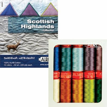 Scottish Highlands 50wt Aurifil 10 Small Spools