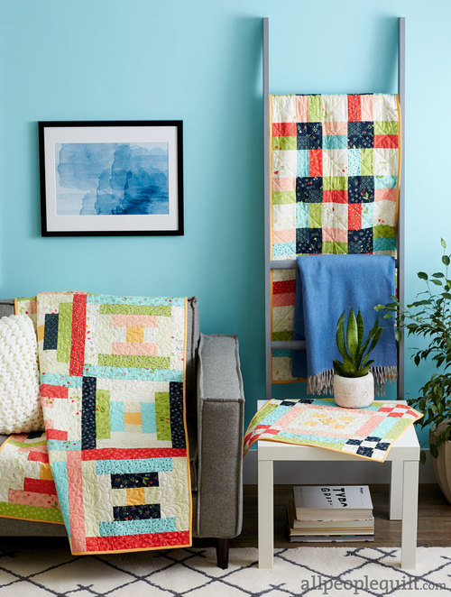 Feb/18 - Scrap Lab Feature Quilts & More Quilt Kit