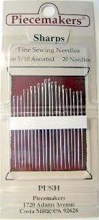 Piecemakers Hand Applique Sharps Needles 20 Count