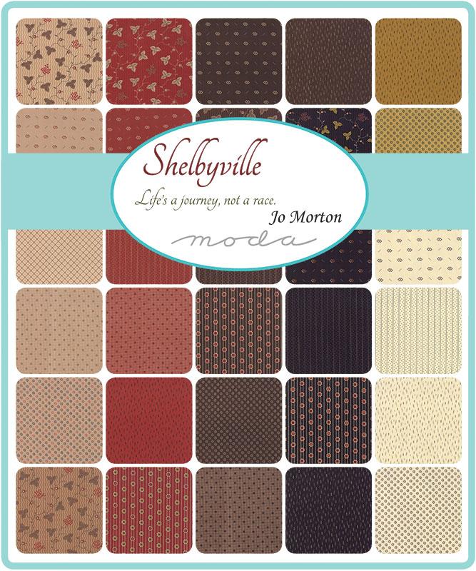 Moda Fat Eighth Bundle - Shelbyville by Jo Morton