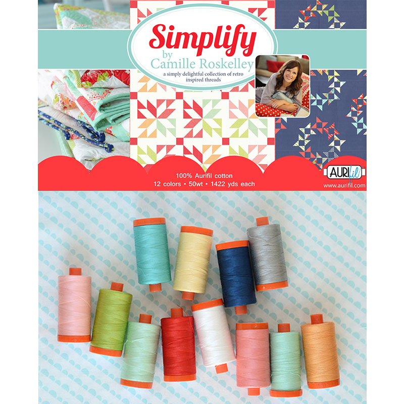 Simplify by Camille Roskelley Aurifil Large Spools