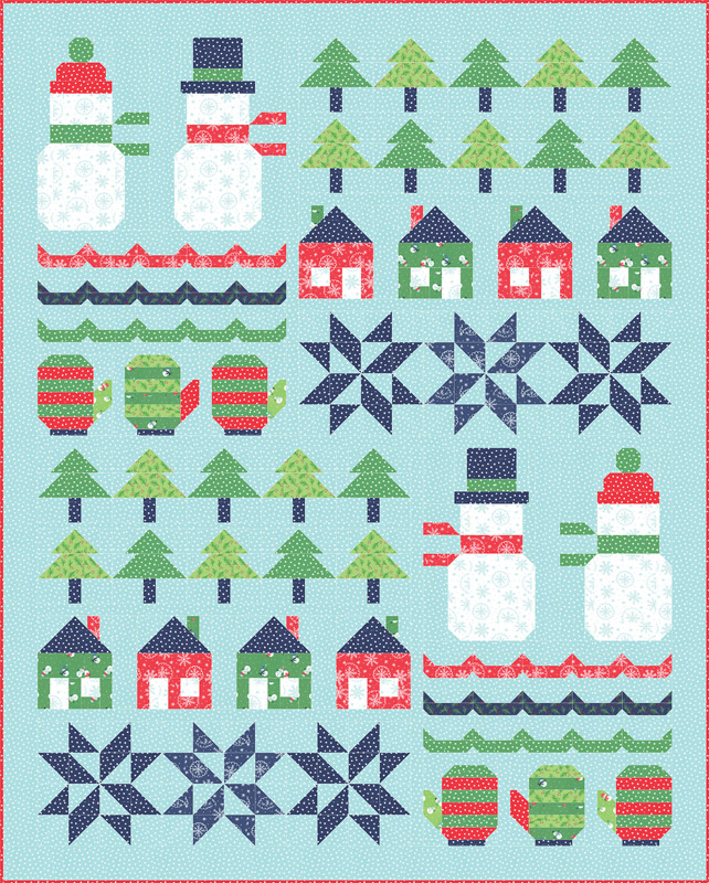 Moda Quilt Kit - Snow Day by Stacy Iest Hsu