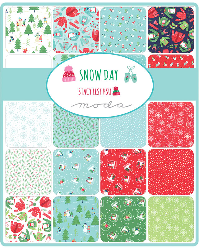 Moda Fat Eighth Bundle - Snow Day by Stacy Iest Hsu