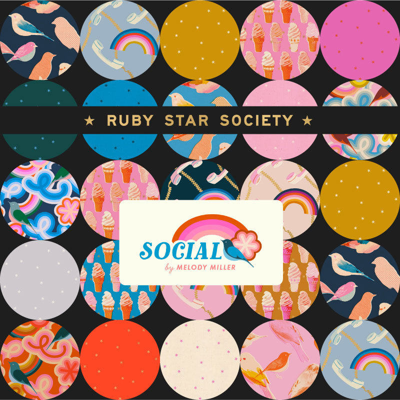 Moda Half Yard Bundle - Ruby Star Society SOCIAL by Melody Miller
