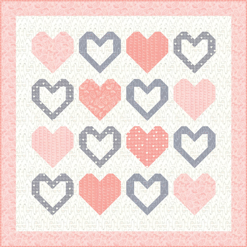 Moda Quilt Kit - Soft Sweet Flannel Pinks