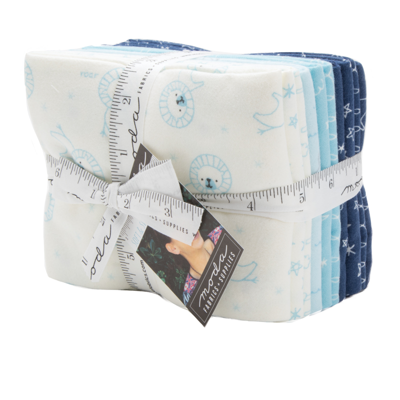 Moda Fat Quarter Bundle - Soft Sweet Flannels BLUE by Stacy Iest Hsu