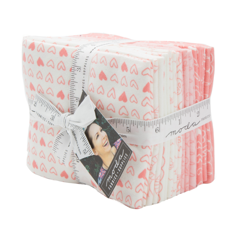 Moda Fat Quarter Bundle - Soft Sweet Flannels Pink by Stacy Iest Hsu