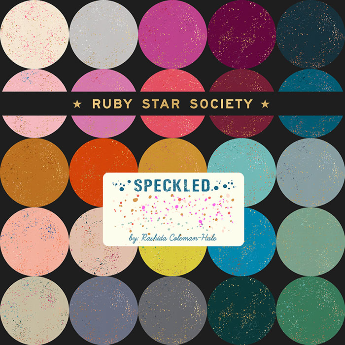 Nov/19 - Ruby Star Society SPECKLED Charm Pack by Rashida Coleman Hale