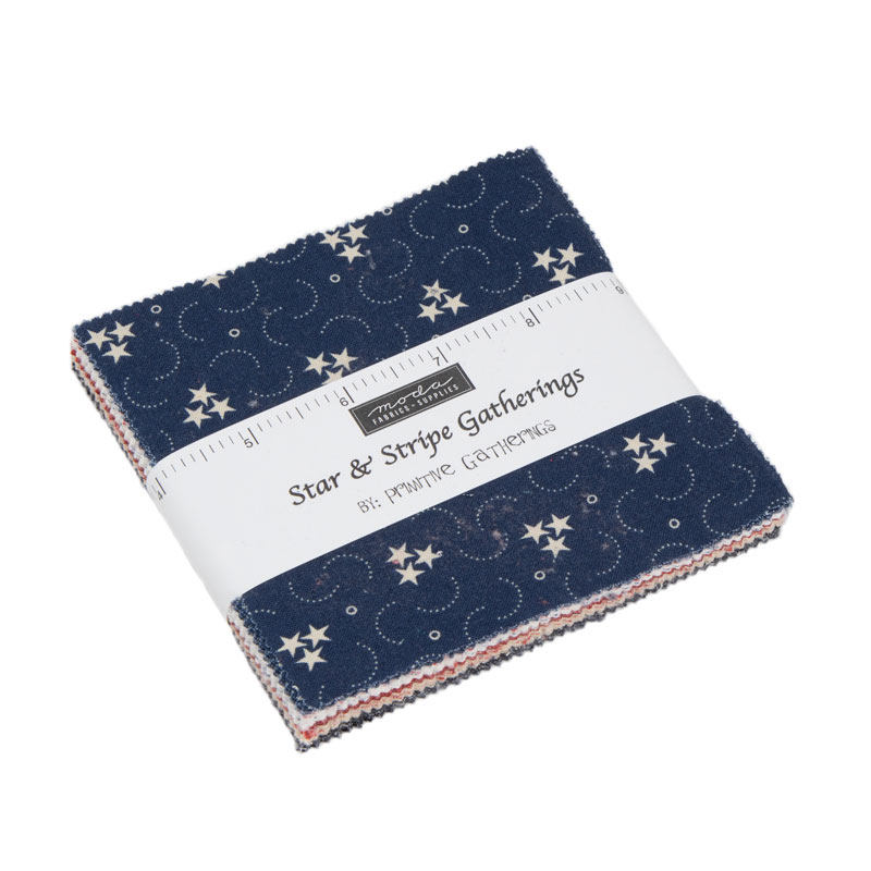 Moda Charm Pack - Star & Stripe Gatherings by Primitive Gatherings
