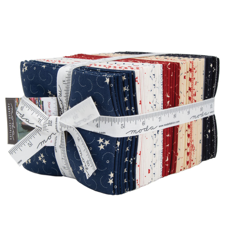 Moda Fat Quarter Bundle - Star & Stripe Gatherings by Primitive Gatherings