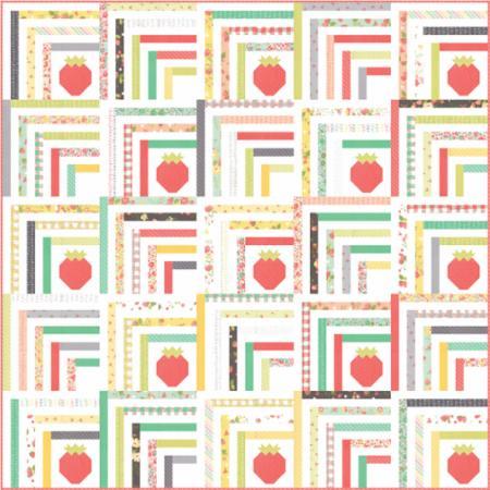 Moda Quilt Kit - Strawberry Jam by Corey Yoder