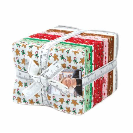 Moda Fat Quarter Bundle - Sugar Plum Christmas by Bunny Hill Designs