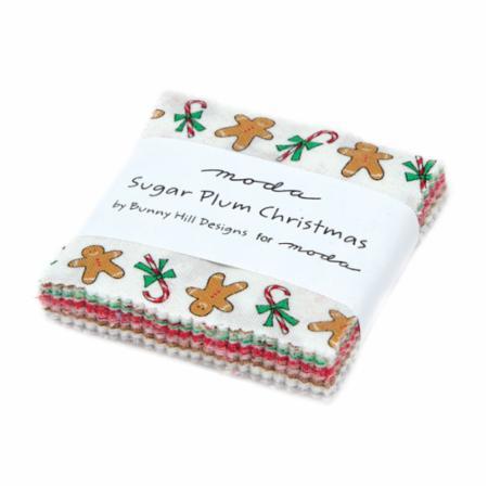 Moda Mini Charm - Sugar Plum Christmas by Bunny Hill Designs
