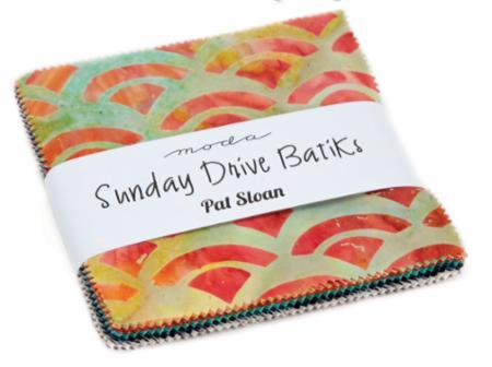 Moda Charm Pack - Sunday Drive BATIKS by Pat Sloan