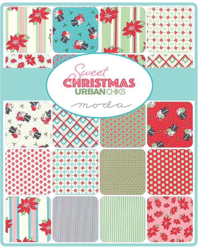 Moda Fat Quarter Bundle - Sweet Christmas by Urban Chiks