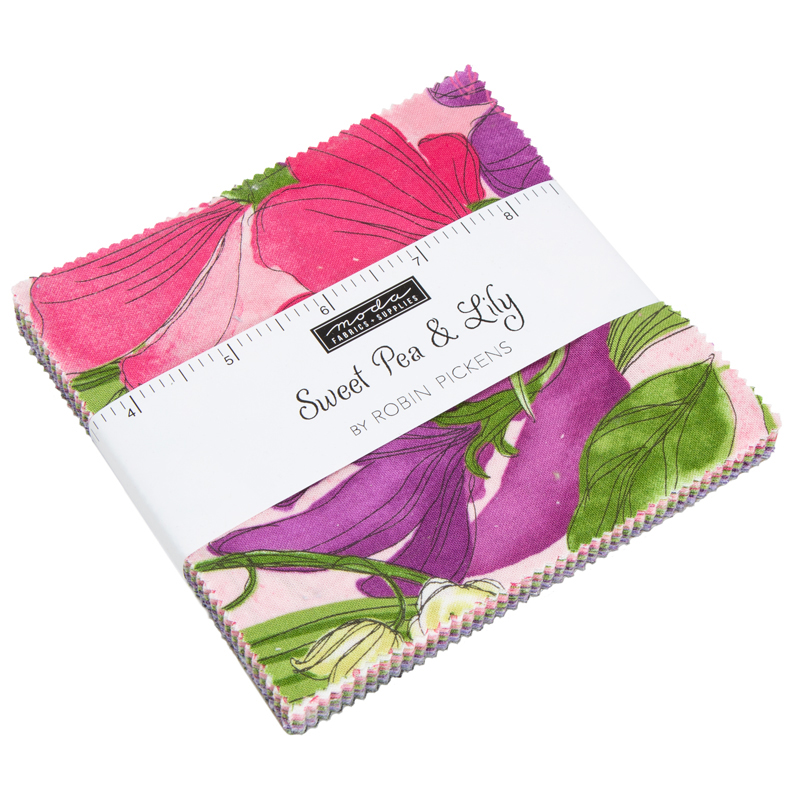Moda Charm Pack - Sweet Pea Lily by Robin Pickens