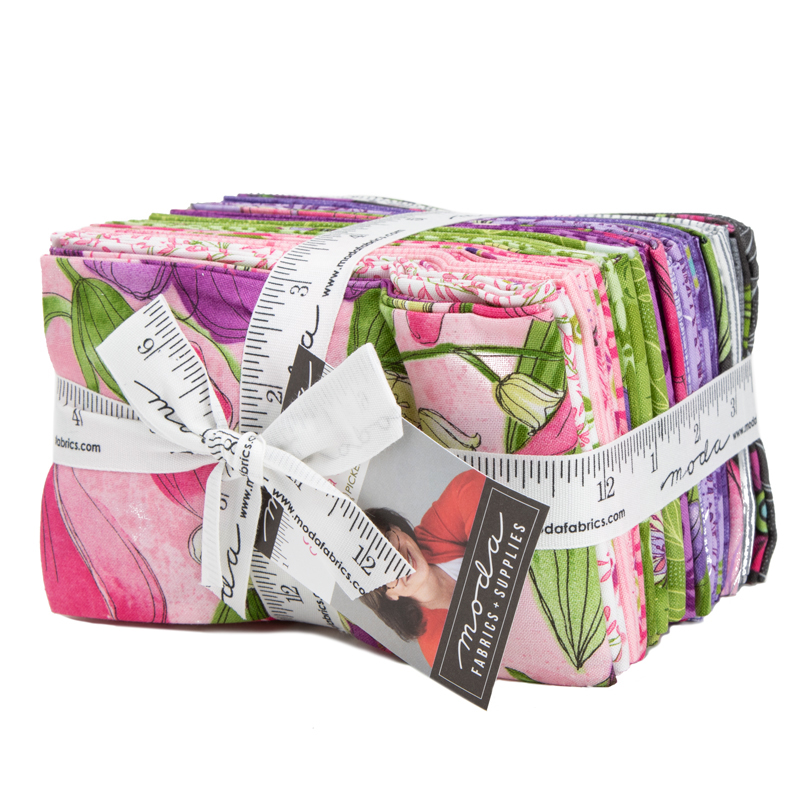 Moda Fat Eighth Bundle - Sweet Pea Lily by Robin Pickens