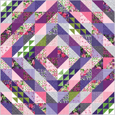 Moda Quilt Kit - Sweet Pea Lily by Robin Pickens