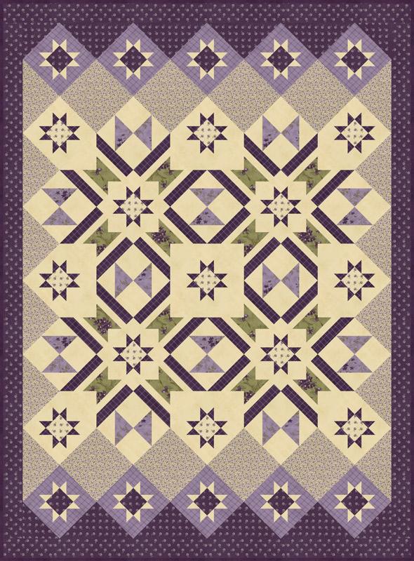 Moda Quilt Kit - Sweet Violet by Jan Patek