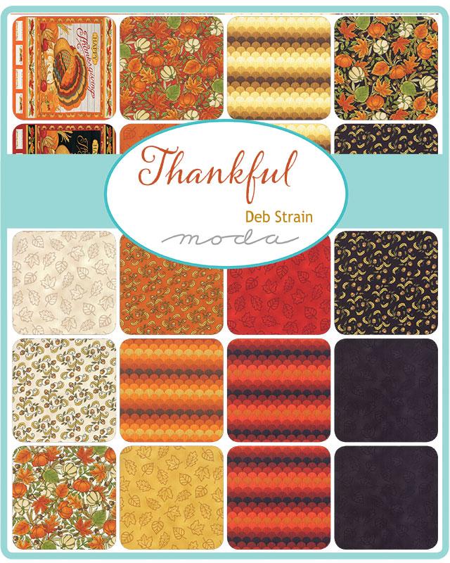 Moda Fat Quarter Bundle - Thankful by Deb Strain