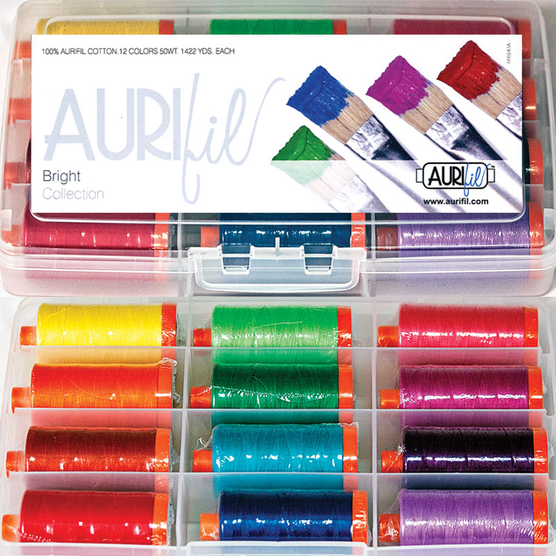 The Bright Collection 50wt Aurifil Large Spools