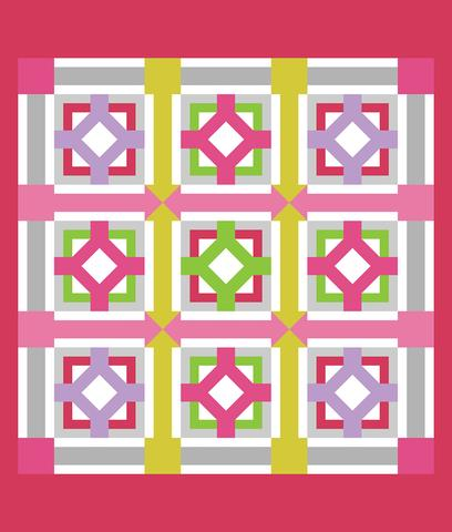 Printed Quilt Kit Panel - Ticky Tack SPRING