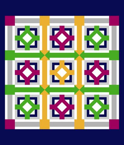 Printed Quilt Kit Panel - Ticky Tack SUMMER