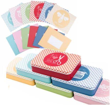 6 Sewing Tin Set Plus Stationary