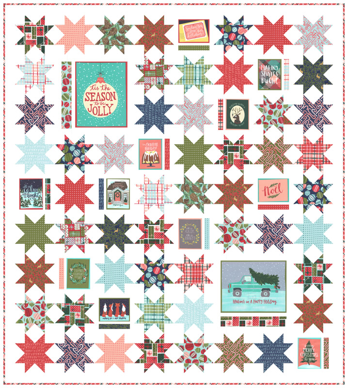 Moda Quilt Kit - To Be Jolly by One Canoe Two