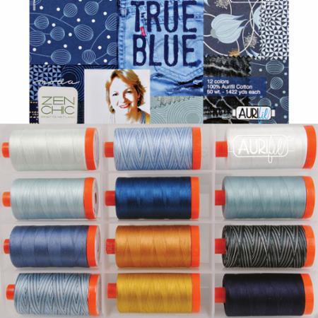 True Blue Collection Aurifil 50wt Large