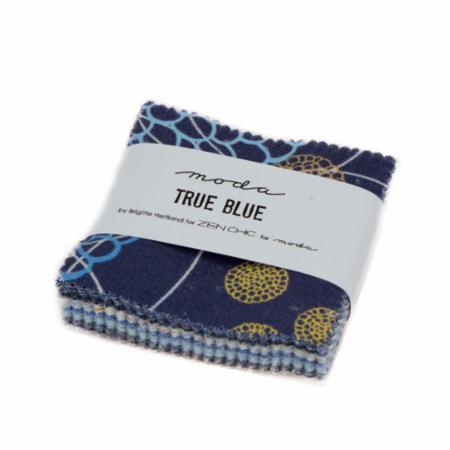 Moda Mini Charm - True Blue by Zen Chic