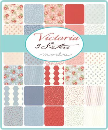 Moda Fat Eighth Bundle - Victoria by 3 Sisters