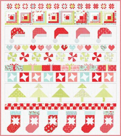 Moda Quilt Kit - Vintage Holiday Stocking