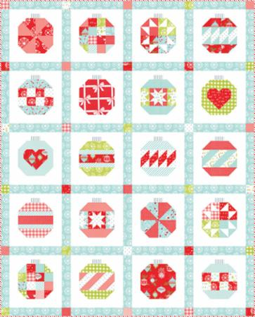 Moda Quilt Kit - Vintage Holiday Ornament
