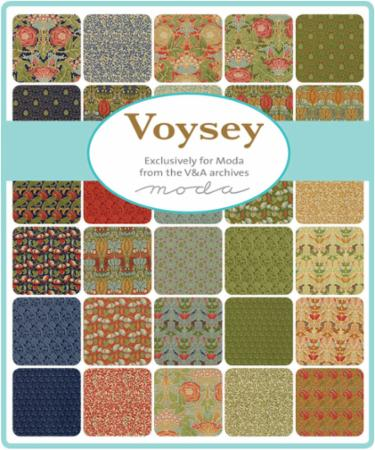 Moda Fat Eighth Bundle - Voysey by V & A Museum